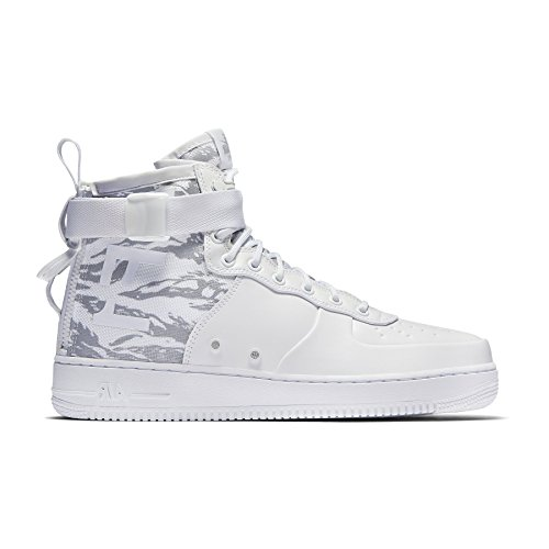 Nike Mens SF Air Force 1 Winter Mid Premium Shoes White/White AA1129-100 Size 11.5 by NIKE