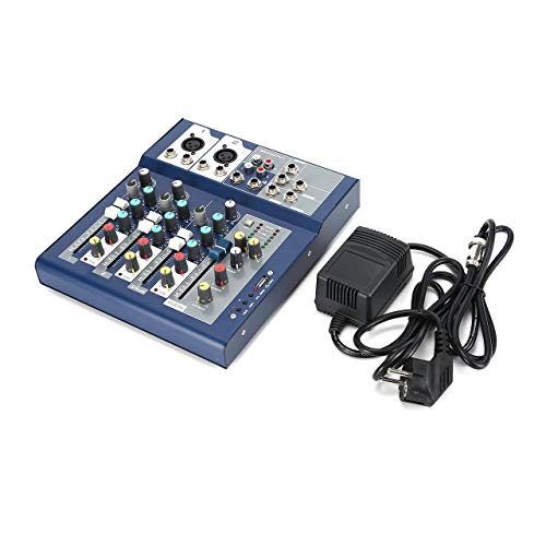 F-4 4 Channel EU Plug 230V Live Mixing Studio Audio Sound Console Network Anchor Portable Mixing Device Vocal Effect Processor