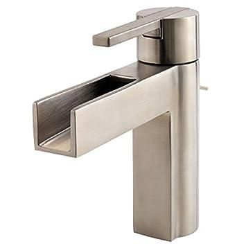 Pfister LF042VGKK Vega Single Control 4 Inch Centerset Bathroom Faucet In  Brushed Nickel, Water