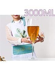 MOLLYNANA - Copa de Vino Gigante de 50 cm, Cristal 100% sin Plomo, Ideal para Fiestas, Bodas, Navidad, Fiestas