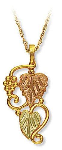 Landstroms 10k Black Hills Gold Pendant Necklace and Leaves, 18