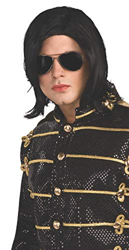Michael Jackson Long Straight Wig and Glasses ()