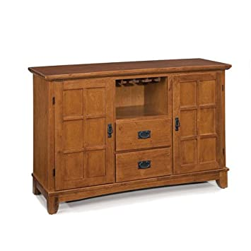 Home Style 5180-69 Arts and Crafts Buffet - Cottage Oak Finish