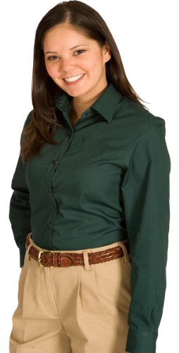 Womens Long Sleeve Twill Shirt - 6