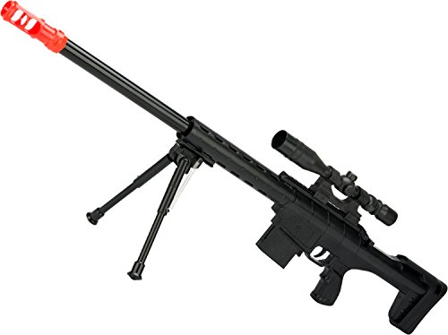 Evike Red Dragon Spring Powered Airsoft Sniper Rifle with Scope and Bipod by Evike