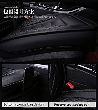 Four season seat cover wear-resistant PU leather car seat cushion cover 5 seats full set of universal fit. Black-brown