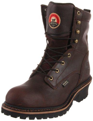 """Irish Setter Men's 83808 8"""" Steel Toe Work Boot, Brown, 8 EE US"""