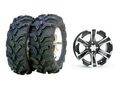 ITP Mud Lite XTR, SS312, Tire/Wheel Kit - 27x9Rx14 - Matte Black/Machined 44281L