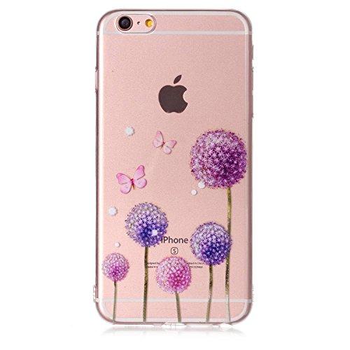 iPhone 6 6S Custodia , Leiai Moda Dente Di Leone Silicone Morbido TPU Cover Case Custodia per Apple iPhone 6 6S