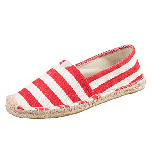 Mordenmiss Womens New Shoes Printed Slip On Canvas Platte Ch03