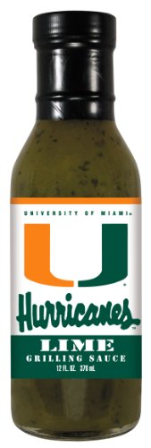 4 Pack MIAMI Hurricanes Lime Grilling Sauce 12 oz ()