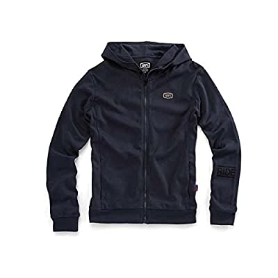 100% Unisex-Adult Chamber Zip-Front Hoodie (Blue,Large): Automotive