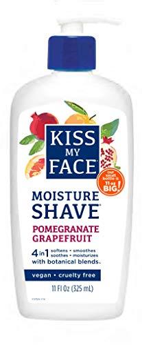 Kiss My Face Moisture Shave Shaving Cream, Pomegranate Grapefruit Shaving Soap, 11 Oz