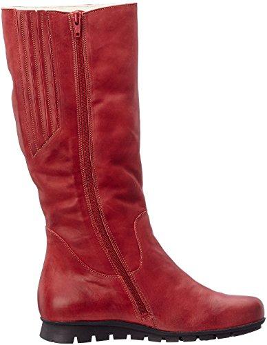 Femme rosso kombi Menscha Rouge Think Bottes 72 wB61B