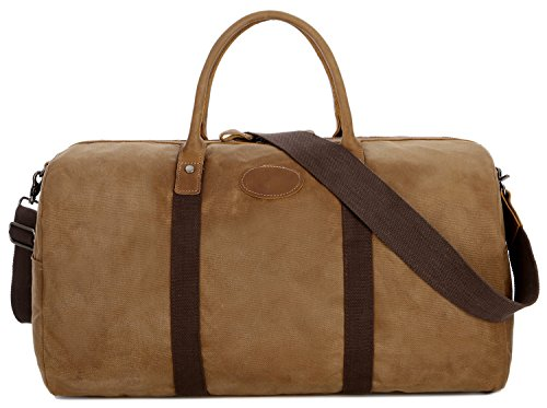 BAOSHA HB-03 Canvas Leather Travel Duffel Bag Overnight Week