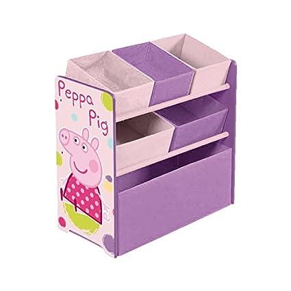 Arditex PP8379 - Armario organizador, 5 cestas, diseño Peppa pig