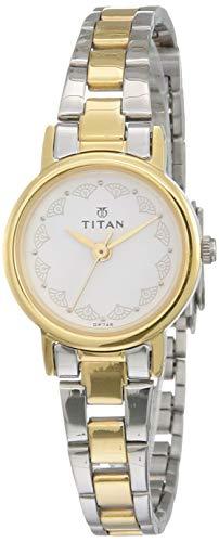 Titan Analog White Dial Women's Watch NM917BM01 / NL917BM01