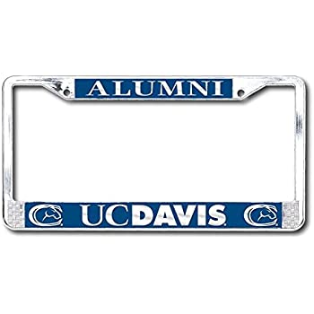 Amazon Com Uc Davis Aggies License Plate Frame Sports