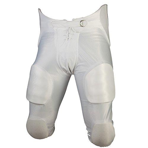 Cramer Football Game Pants 7 Pad, White, Youth Medium