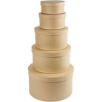 Creativ - Sombrerera de papel maché, redonda, 35,5 cm, 5 unidades: Amazon.es: Industria, empresas y ciencia