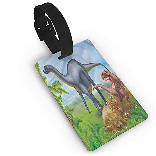 - Label Bag Dinosaur,Various Animals Jungle One Size Label Tag Address Holder