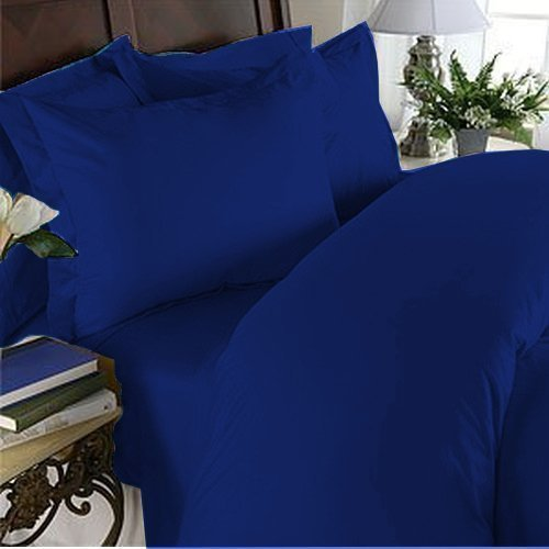 Elegant Comfort 1500 Thread Count Luxury Egyptian Quality Super Soft Wrinkle Free and Fade Resistant 4-Piece Sheet Set King Royal Blue