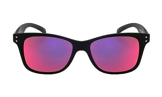 Óculos de Sol Hb Landshark Teen 9012300190 47 Preto Fosco Espelhado Vermelho cf87d83ef4