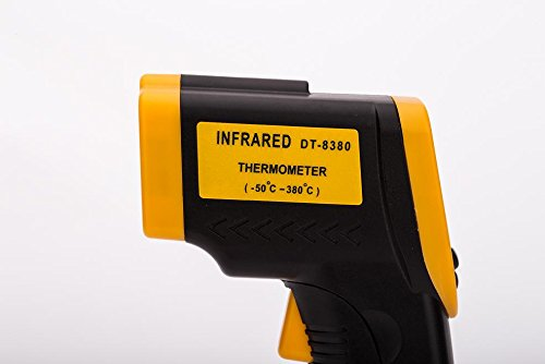 Infrared Thermometer, Magicoo Digital Non-contact Instant Read Temperature Gun -58°F ~ 716°F(-50℃~380℃) Emissivity 0.1-1.0, Laser Point IR Thermometer with LED Backlight by Magicoo (Image #3)