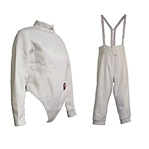 2 Pieces 350N Superior Nylon Fencing Set: Jacket and Knicker
