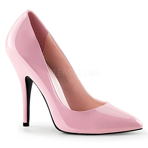Pleaser Women's Seduce Pump,Baby Pink Patent,12 M