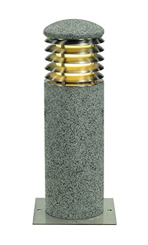 (SLV Lighting 231430U 231430 Arrock Granite 40 Round Bollard Path Light, 16
