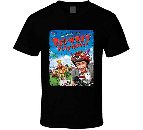 YSZM Pee-Wee's Playhouse, Pee-Wee Herman T-Shirt Black]()