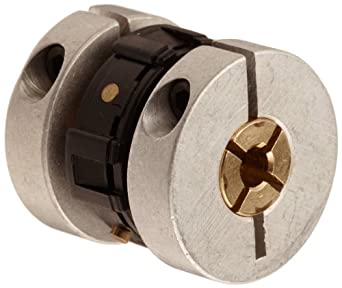 "Huco Aluminum Uni-Lat Couplers, Clamp, 1/8"" x 1/8"" Bore, 0.75"" Overall Length"