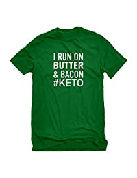 Indica Plateau I Run on Butter and Bacon Mens T-Shirt