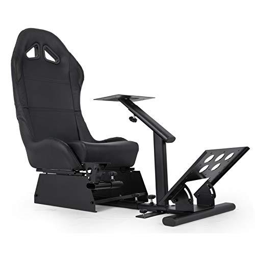 Happybuy Driving Gaming Seat Racing Simulator Cockpit