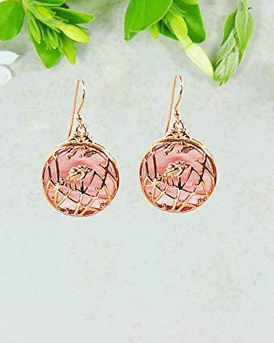 Sivalya WILDFLOWER Pink Rose Quartz Earrings in 14K Rose Gold Plated Sterling Silver