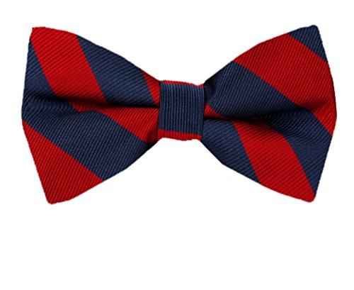 PBT-JCS-ADF-1-8 - Men's College Repp Stripe Pre-tied Bow Tie ()