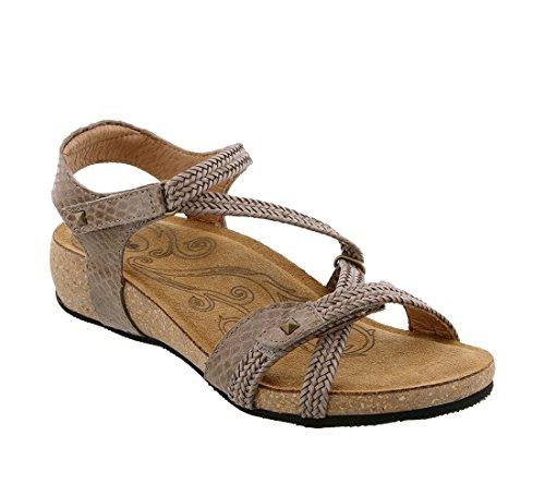 - Taos Women's Ziggie Taupe Snake Sandal 5-5.5 M US