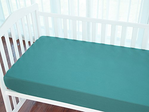 TILLYOU Silky Soft Microfiber Crib Sheet, Breathable Cozy Hy