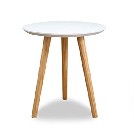 Tavoli Da Pranzo In Stile.Wxger Tavolino Rotondo In Legno Bianco Tavolino Tavolo Da Pranzo