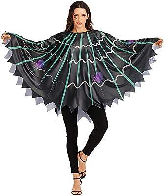 EraSpooky Disfraz de Tela de Araña Telaraña para Mujer Cosplay ...