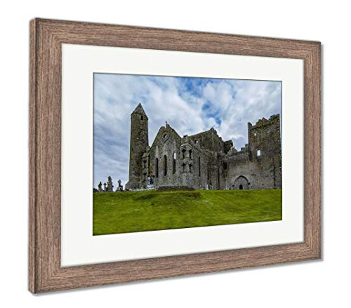 Ashley Framed Prints Castle Rock of Cashel in Ireland, Wall Art Home Decoration, Color, 30x35 (Frame Size), Rustic Barn Wood Frame, AG6008980 (Best Castles In Ireland)