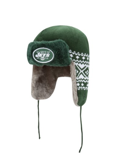 NFL New York Jets Team Trapper Knit - Knit Team Cap Trapper