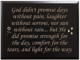 Amazoncom God Didnt Promise Days Without Pain Laughter Without