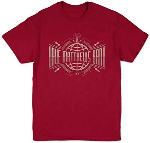 Dave Matthews Band Men's Radio Tower Slim Fit T-Shirt XX-Large Cardinal ()