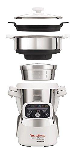 Moulinex HF802AA1 Cuisine Companion Robot de Cocina Multifunción Robot + Vaporera [Versión...