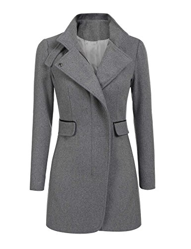 Cheap BEAUTYTALK Womens Winter Outdoor Classic Wool Blended Trench Coat Jacket