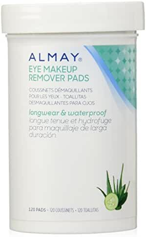 Almay Longwear & Waterproof Eye Makeup Remover Pads, 120 Counts