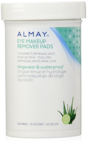 Almay Longwear & Waterproof Eye Makeup Remover Pads, 120 Counts