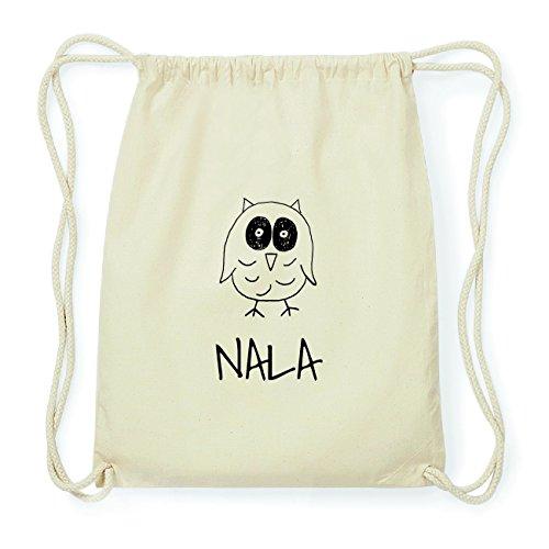 JOllipets NALA Hipster Turnbeutel Tasche Rucksack aus Baumwolle Design: Eule R8QrM